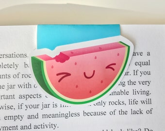 Cute Watermelon Magnetic Bookmark