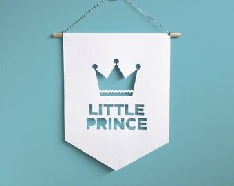 Little Prince Wall Hanging,baby wall banner,baby wall art,nursery wall art,nursery wall decor,baby wall decor,nursery artwork,boy wall decor