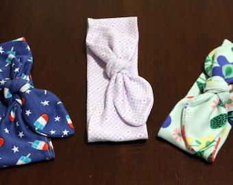 Toddler knot headbands