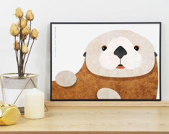 Sea Otter Graphic Print