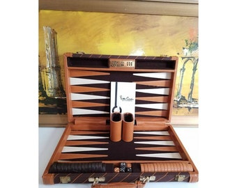 Vintage Pierre Cardin Backgammon Game, Deluxe Master Backgammon Game, Designer Carrying Case, Backgammon Game, Family Entertainment, 1970s