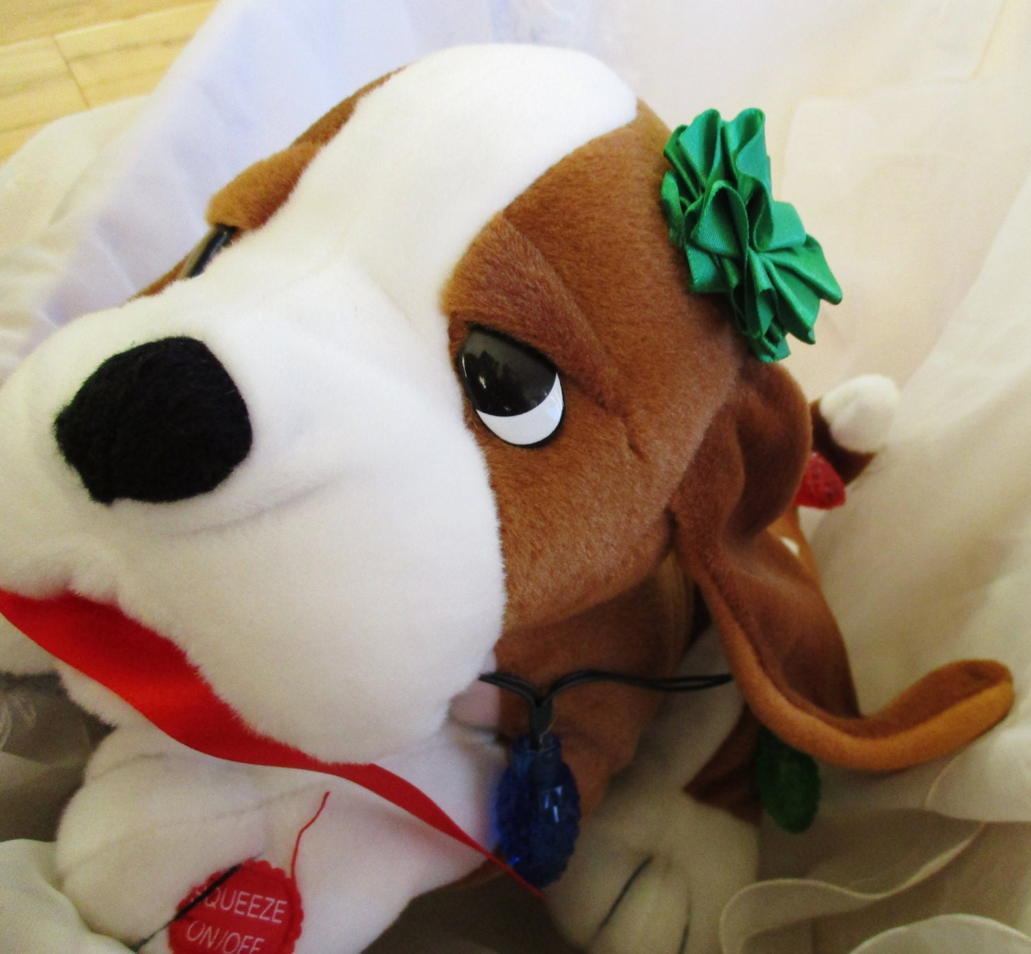 Nuttin For Christmas Musical Lighted Doggy Plush collectible