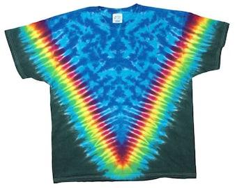 Tie Dye T-Shirt - V Rainbow Forest