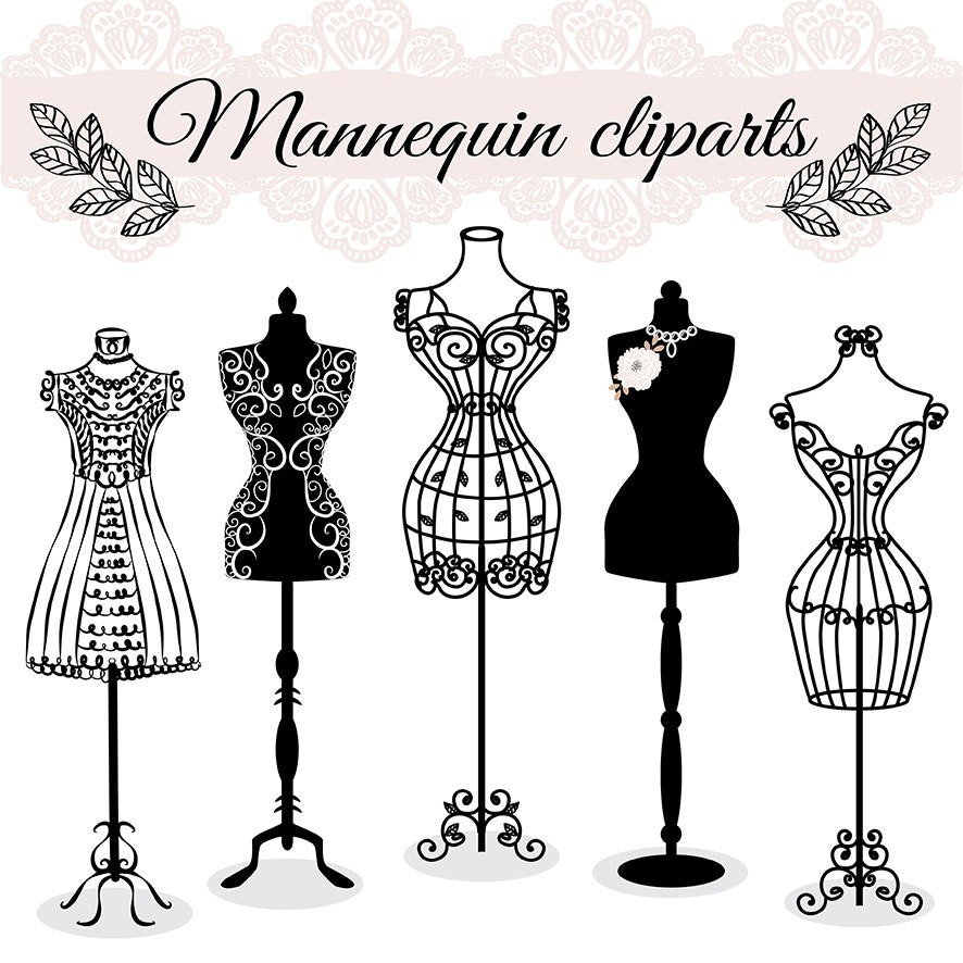 premium vector hand draw mannequin fashion dress forms. Black Bedroom Furniture Sets. Home Design Ideas