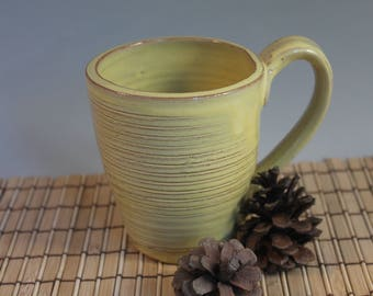 Rustic coffee mug - coffee cup - yellow mug - Gift for Dad - ready to ship