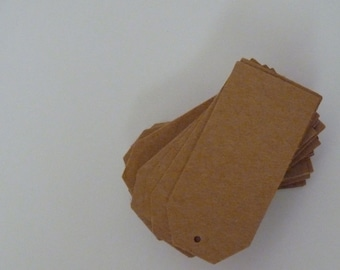 Plain kraft card brown price tags hang tags 2 x 1 inches