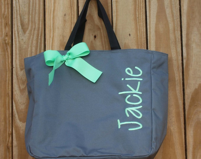 Wedding Totes, 11 Personalized Bridesmaid Tote Bags- Bridesmaid Gifts- Personalized Bridesmaid Tote- Wedding Party Gift- Name Tote-