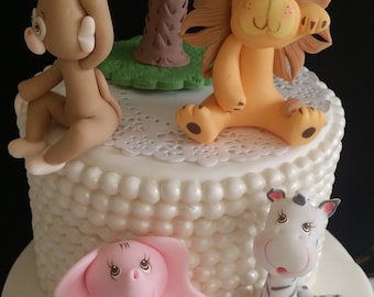 Baby Shower Cake Ideas Zoo Animals ~ Pink safari baby shower girl safari birthday jungle birthday