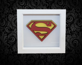 SuperMan 3D Box Frame Wall Art