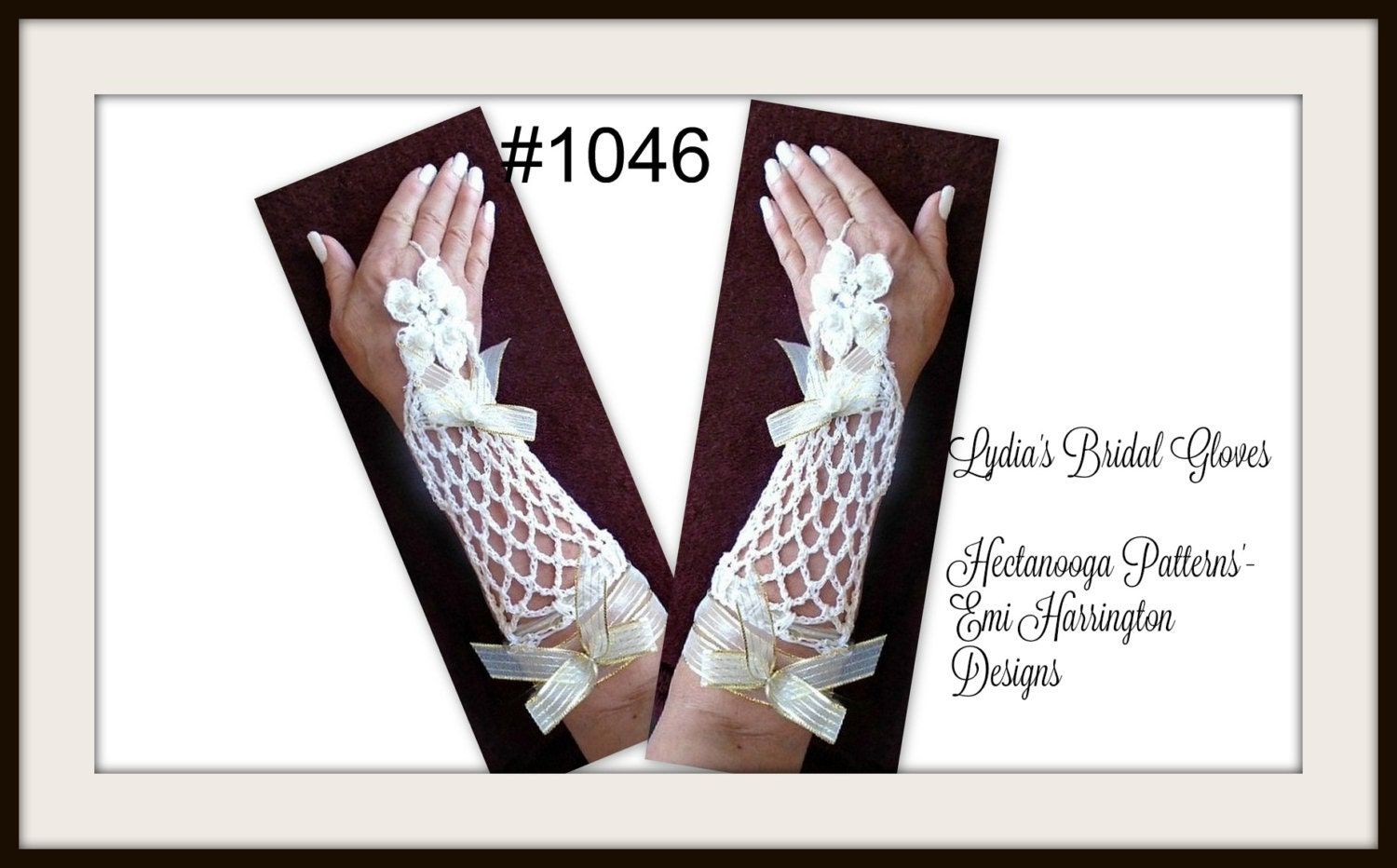 Crochet pattern bridal gloves wedding accessories lovely lydia this is a digital file jeuxipadfo Choice Image
