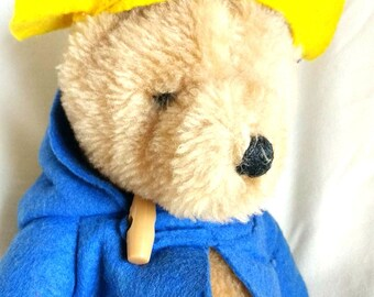 "Vintage Paddington Bear Plush Eden Made in Korea 8"" Stuffed Animal Storybook Character Gift for Child"