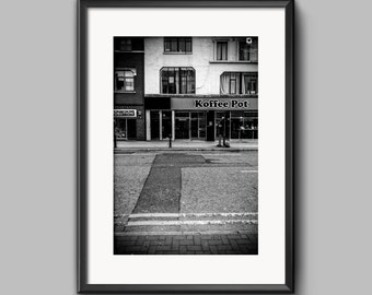 Koffee Pot / Manchester / fine art / black and white / photograph / print / urban / print / wall art / cityscape