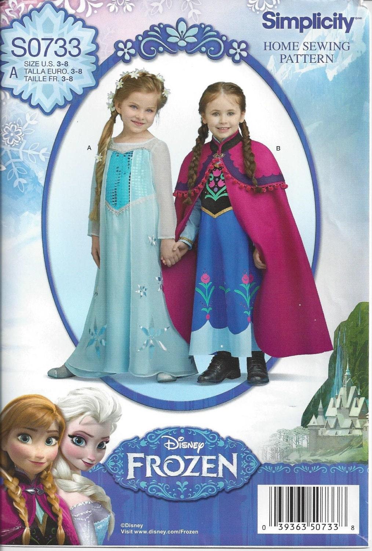 GEFRORENE Schnittmuster / Disney Prinzessin Elsa und Anna