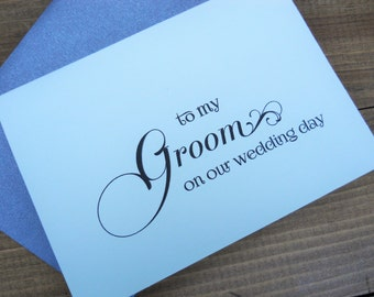 TO MY GROOM on our Wedding Day Card, Card from Bride to Groom, Groom Card, Groom Gift, Wedding Card for Groom, Groom Wedding Gift