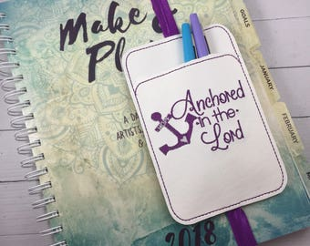 Bible Pen Holder planner pocket - planner and bullet journal accessories -best gifts for her