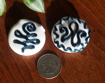 glass pendant blue stardust squiggle