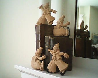 1960s CLOWN  DECOR Four Whimsical  Entertainers Repurpose Project