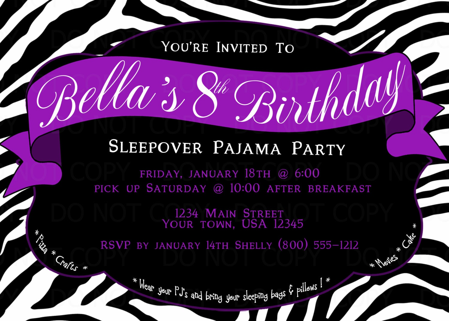 sleepover birthday party invitations free printable - Paso.evolist.co