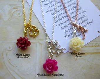 Personalized Necklace, Personalized Bridesmaid Necklace, Personalized Necklace, Flower Girl Necklace, Bridesmaid Necklace, Flower Girl Gift