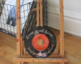 Home Sweet Home Floral EP 45 Record Painting + Donation to My Friend's Place