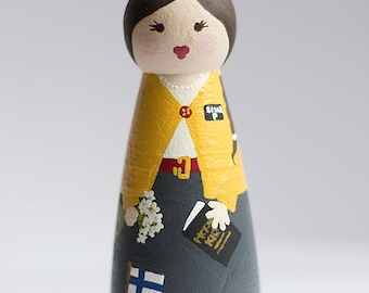 LDS Sister Missionary Peg Doll - CUSTOMIZED