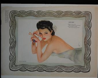 Varga January Beauty 1943 Vintage Pin-up