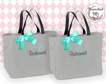 5 bridesmaid tote bag personalized tote bridesmaids gift