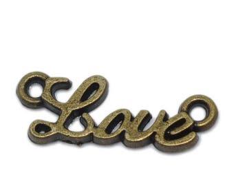 4 Love connectors bronze 8 x 20 mm