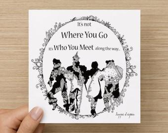 Wizard Of Oz Greetings Card