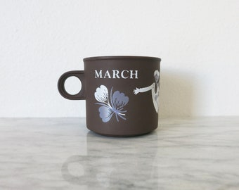 Lancaster Vitramic Mug, Vintage, March Mug, Matte Brown, March Birthday, Large Coffee Mug, Cute Mugs, Unique Mugs, Coffee Mugs, Ceramic Mug