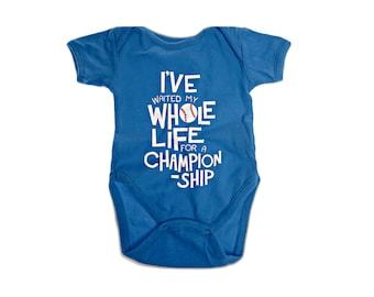 Chicago Cubs Baby Onesie Infant Shoulder Creeper