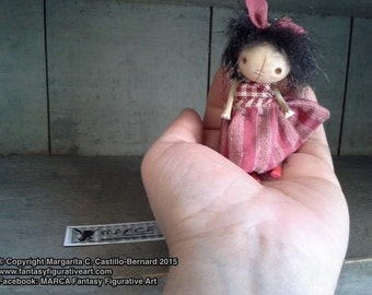 "Art doll BJD prop miniature creepy cute ""IDGY"" party favor primitive"
