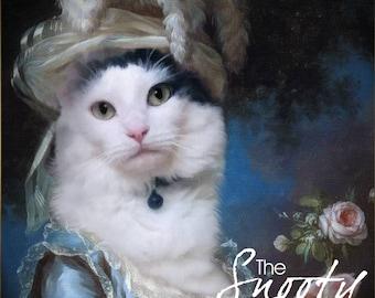 CAT PORTRAIT - Marie Antoinette Pet Portrait - Custom Cat Portrait