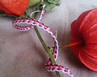 """""""Pink & Purple"""" bracelet-women's hand made bracelet-by HeddleWeaving"""