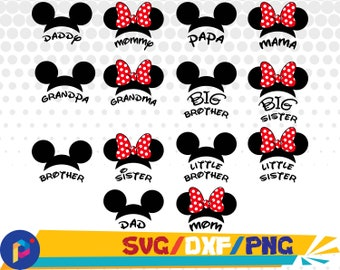 Mickey family svg,png,dxf/Mickey svg,png,dxf/Minnie svg,png,dxf for Silhouette,Cricut,Design,Print and any more