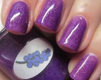 Neon Shimmer Jelly Grape Nail Polish