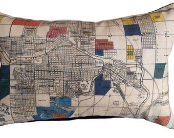 Calgary Vintage Map Pillow - FREE SHIPPING