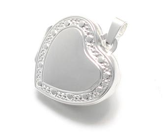 small Heart Locket in 925 sterling silver with outdoor decorating