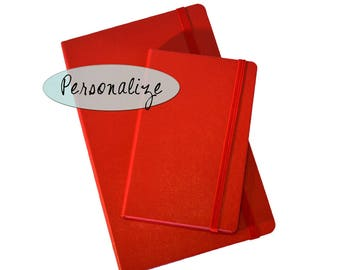 Red Personalized Mokeskine Journal or Notebook
