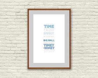 Wibbly-Wobbly Timey-Wimey Poster
