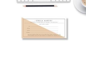 Gift Certificate Template | Gift Voucher | Printable Voucher Design | Voucher template