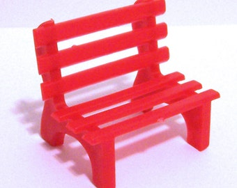 Red Park Bench Cake Topper