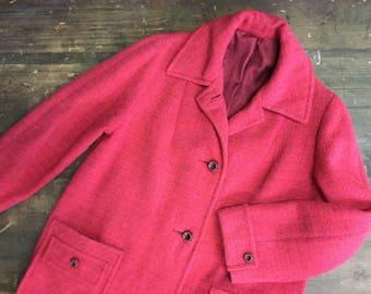 Scotlander Harris Tweed Wool Coat