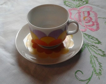 Wunsiedel Pottery cup and saucer