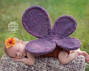 Knitting Pattern - Baby Butterfly Pattern - Newborn Photo Prop Pattern - Baby Girl Pattern - Baby Prop Pattern - Baby Girl Knit Pattern