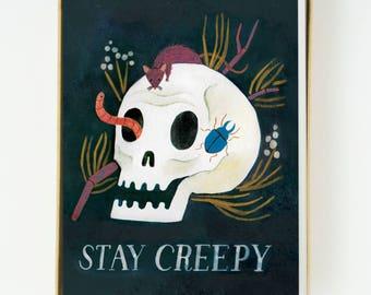 Stay Creepy Card 8pcs