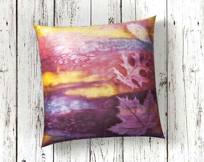 Lodge Pillow Cover 18x18- Watercolor Silk Pillow-Lodge Decor-Rustic Decor-Cabin Decor-Nature Art-Home Decor Gifts-Watercolor Home Decor