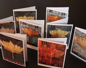 Lotus  Note Cards