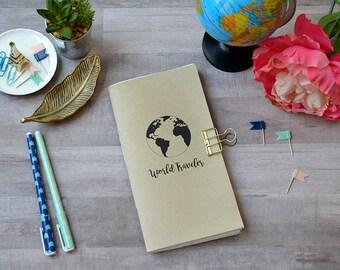 Traveler's notebook inserts - travel notebook-world traveler- travelers notebook insert