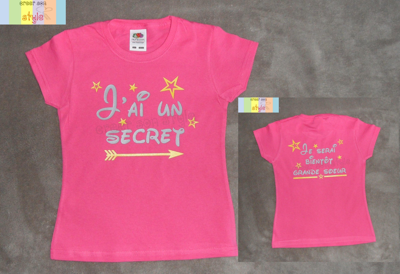 Tee shirt personnalis enfant j 39 ai un secret je - Tee shirt avec photo personnalise ...